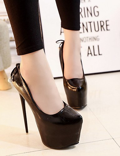 GGX/Damen Schuhe Kunstleder Fall Heels/spitz Toe Heels Büro & Karriere/Party & Abend/Casual Stiletto-Absatz black-us5 / eu35 / uk3 / cn34