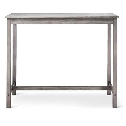 Counter Height Pub Table Hardwood Gray Wash