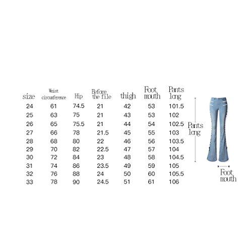 Grande Taglia Alta Brilliant Elasticità Di Capi 32 Pantalone Firm Dimensioni Dividi Nuovi Jeans size I Vita Europa Grandi zvArwz
