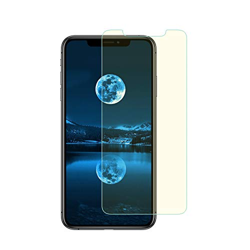 Anti Blue Light Screen Protector for iPhone XR 6.1,Pavoscreen iPhone XR Protect Eyes Case Friendly Bubble Free Tempered Glass(6.1)