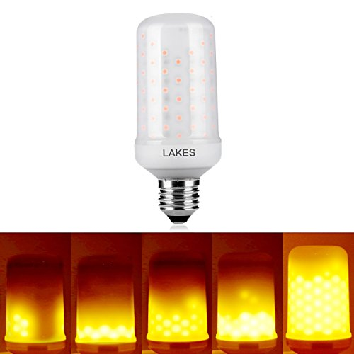 LAKES LED Flickering Flame Bulb, 1300K True Fire Color, Pack of 1 Unit