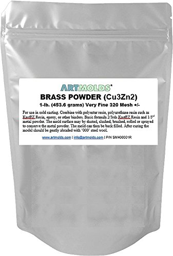 (Brass Powder 1-lb (454 Grams) 320 Mesh +/- for Cold Casting and Inlay Work)