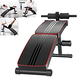 Home Gym Foldable Decline Sit up Bench, Adjustable Weight Bench Workout Abs Benchs for Bench Press, Sit-ups, Leg Lifts, Dumbbell Curls, Full Body Fitness (AS shown)