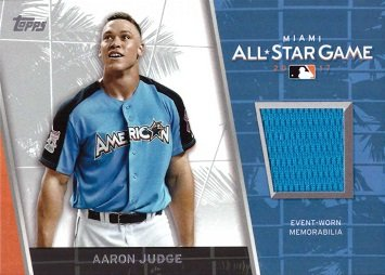 new product 0fb78 5de25 2017 Topps Update All-Star Stitches Relics #ASR-AJ Aaron Judge Event Worn  Memorabilia Baseball Card from Rookie Season