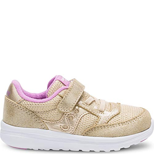 Saucony Girls' Baby Jazz Lite Sneaker, Gold Sparkle, 10 Medium US Toddler by Saucony