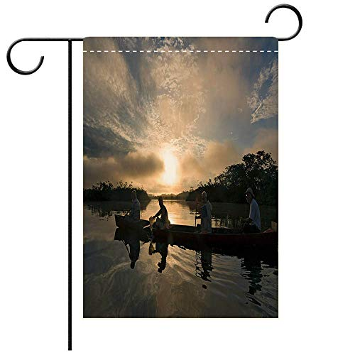 BEICICI Custom Personalized Garden Flag Outdoor Flag Canoeing in Ecuadorian Rainforest Decorative Deck, Patio, Porch, Balcony Backyard, Garden or Lawn (Best Canoeing In Ohio)