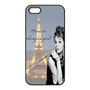 Audrey Hepburn Quotes Use Your Own Image Phone Case for Iphone 5,5S,customized case cover ygtg-781989