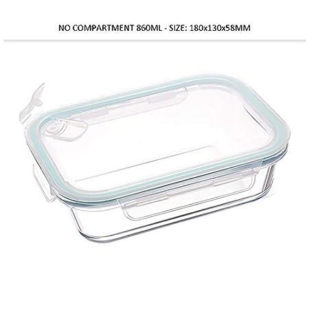 Contenedor de comida preparada - Contenedor de vidrio tapa de ...