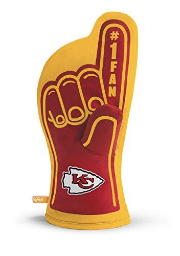 YouTheFan NFL Kansas City Chiefs NFL Kansas City ChiefsNFL #1 Oven Mitt, Red, Dimensions: 13.25