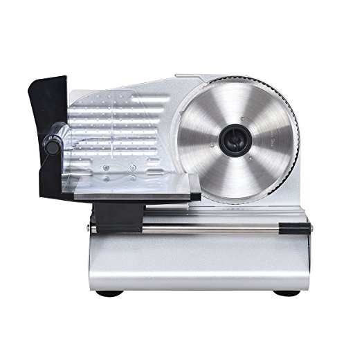 Slicer Meat Electric Deli Food Cutter Blade Cheese Commercial Steel Restaurant New Home Kitchen Stainless Premium (Bass Pro Pot)