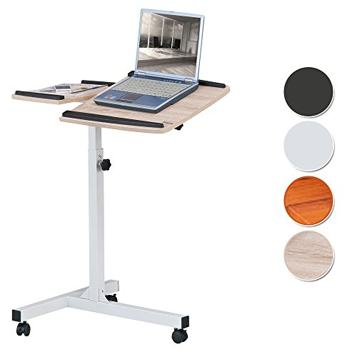 SixBros. Laptoptisch Projektionstisch Eiche/Weiß Holzoptik - LT-001A/1836