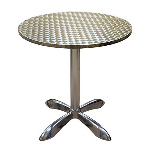 (American Tables & Seating AL30-H Aluminum Round Pedestal Bar Height Table, 27-1/2