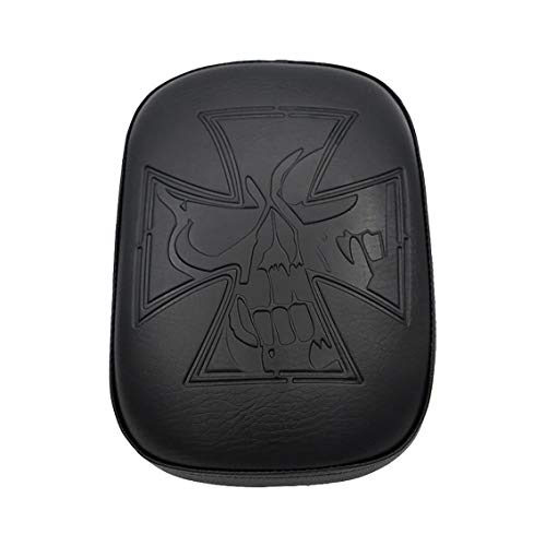 Rectangular Leather Pillion Pad Seat 8 Suction Cup Solo Rear Seat Passenger Saddle For Harley Dyna Sportster Softail Touring XL 883 1200 48 Chopper Street Bob Custom Bikes Motorcycle Passenger -