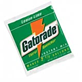 Gatorade 03928 2.12 Ounce Instant Powder Concentrate Packet Lemon Lime Electrolyte Drink - Yields 1 Quart (144 Packets Per Case) (144/EA)