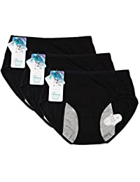 Women Menstrual Period Protective Panties Leakproof Brief Postpartum Bleeding Underwear(pack of 3)