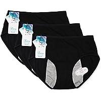 Funcy Women Menstrual Period Briefs Leakproof Panties Postpartum Bleeding Underwear(Pack of 3