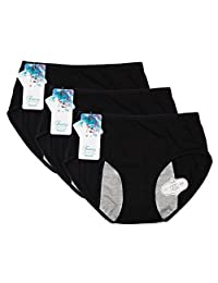 Funcy Women/Girl Leak Proof Panties for Menstrual Period/Postpartum Bleeding (3B, L)