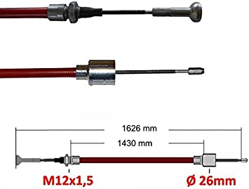 2 x ALKO Longlife Bremsseil Schnellmontage 247288 Länge 1430mm//1626mm  Anhänger
