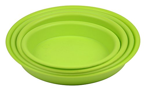 4.5'' Round Plant Saucer Planter Tray Pat Pallet for Flowerpot,Green,1200 Count by Zhanwang