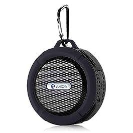 Speaker Promotional IPX4 Waterproof Wireless Suction and Clip Bluetooth Speaker OEM Portable Speaker (Black Gray)