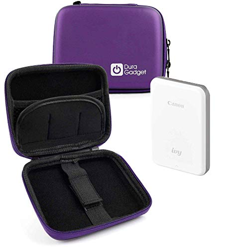 DURAGADGET Exclusive Hard Shell EVA Box-Style Case in Purple - Suitable for The Canon Ivy Mini Photo Printer ()