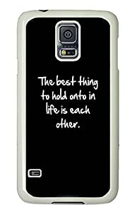 Samsung Galaxy S5 Inspirational Life Quote386 PC Custom Samsung Galaxy S5 Case Cover White