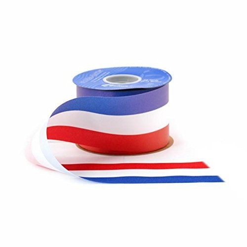 Patriotic Red White Blue Ribbon - 1 7/16