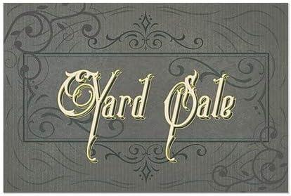 Victorian Frame Window Cling 5-Pack Yard Sale CGSignLab 27x18