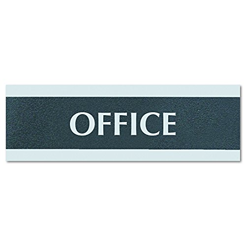 Headline Sign 4762 Century Series Office Sign, OFFICE, 9 x 3, Black/Silver by Headline Sign (Image #2)