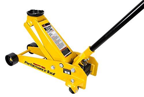 Performance Tool W1616 Yellow Steel Frame-Service Jack 3 Ton (6,000 lbs) Tool