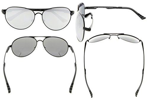 ddf033256c Eyekepper Lunettes de soleil Metal monture verres en Polycarbonate verres  Polarisees lunettes soleil style aviateur noir ...