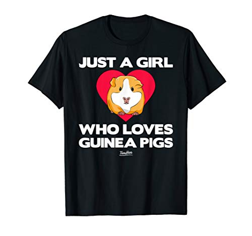 Just A Girl Who Loves Guinea Pig Tshirt Mom Guinea Pig Lover