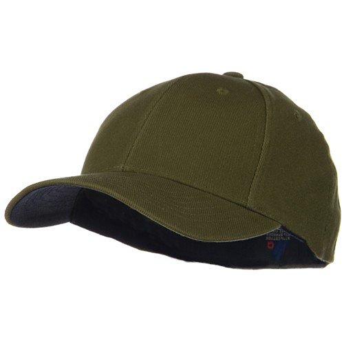 low crown baseball hats lids mid profile washed flex cap dark olive deep