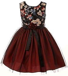 Sleeveless Sequin Floral Christmas Dress