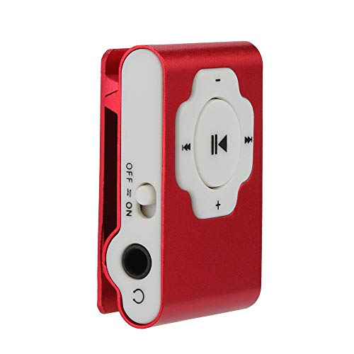 MP3 Player, Tuscom Mini Portable USB MP3 Player Support Micro SD TF Card 32GB, Clip Music Player, MP4 Player, Video/Media/Music Player for Sport and Music Lovers (Red)