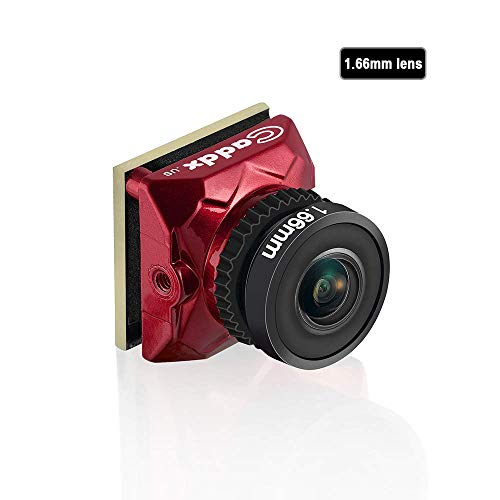 Caddx Ratel Newest FPV Camera 1/1.8'' Starlight HDR OSD 1200TVL 16:9 NTSC 1.66mm Lens for FPV Quadcopter Racing Drone (Red) (Best Lens For Fpv)