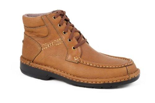 Roper Tan Tumble Leather Comfort Lace up XX (10.5) 09-020-1740-0057TA ()