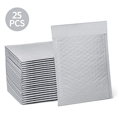 HBlife #0 6x10 inches Poly Bubble Mailers Self Seal Gray Padded Envelopes, Pack of - Mailer Bubble Plastic