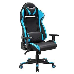 Racing gaming silla de escritorio ordenador altura - Sillas ordenador amazon ...