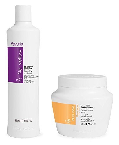 Price comparison product image Fanola No Yellow Shampoo & Nutri Care Restructuring Mask