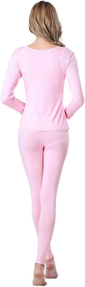 UYES Womens Thermal Underwear Set Top /& Bottom Fleece Lined