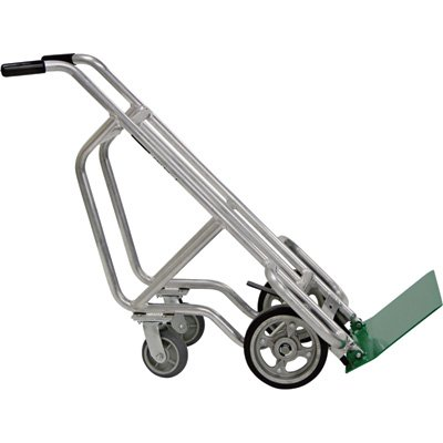 Valley Craft F84800A1 Aluminum Deep Frame Bag and Box Pallet Truck with 4 Solid Wheels, 14-1/2'' Width x 54'' Height x 10'' Depth by Valley Craft