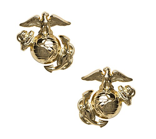 USMC Enlisted Collar Device, Regulation (Usmc Globe And Anchor)