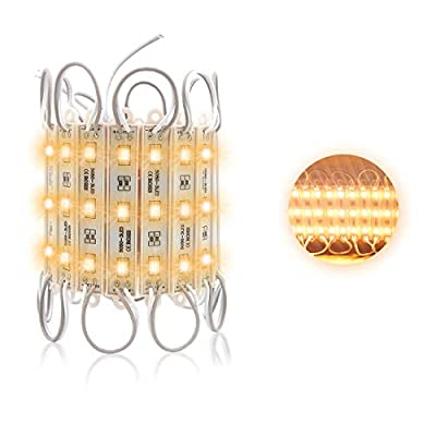 Storefront Lights, Pomelotree 3 Led 40PCS 5050 Super Bright LED Module Lights Waterproof Decorative Light with Tape Adhesive for Store Window Lighting and Advertising Signs (2 Pack)