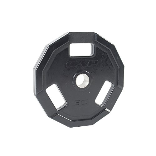 Cap Barbell Olympic 2 Inch 3 Grip Rubber Plate Single