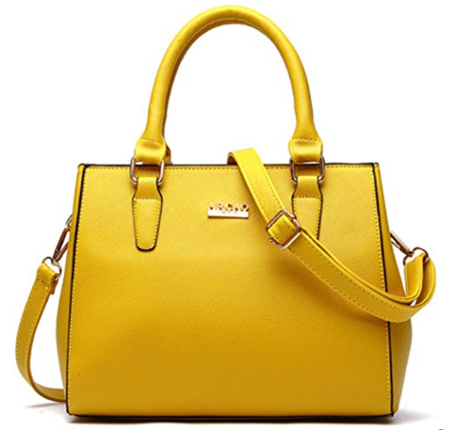 2016 New Design Woman Girl Bag Clutches Top Handle Bag Cross-body Bag Tote Bag Satchels Pu Leather Bag (yellow)