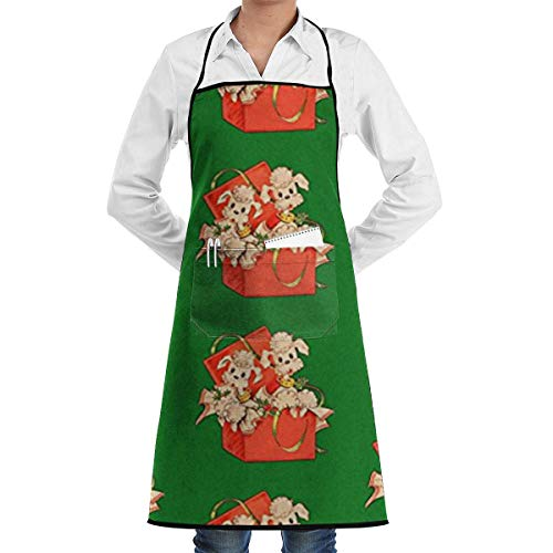 (ABOUtshoc Poodles Apron Kitchen Cooking Commercial Restaurant Apron for Women and Men-Perfect for Gifts )