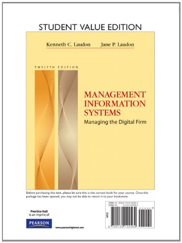 Management Information Systems, Student Value Edition (12th Edition)