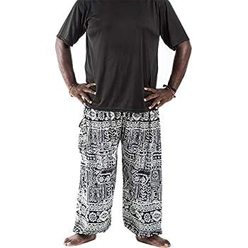 Amazon.com: GLUDEAR Pantalones de yoga hippie con bolsillos ...