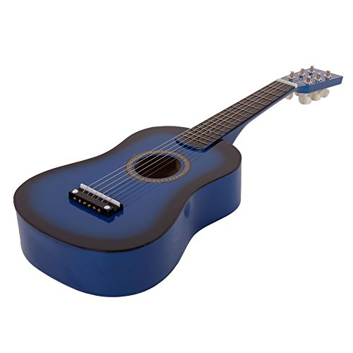 Spaco 23″ Acoustic Guitar Toy with Pick & Extra Strings (Blue)
